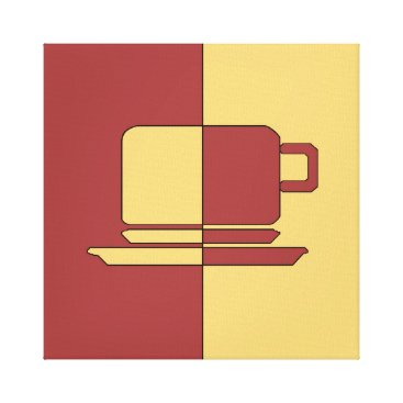 cloudsendgallery Ashton Burgundy and Gold Cup Canvas Print