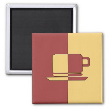 cloudsendgallery Ashton Burgundy and Gold Cup Magnet