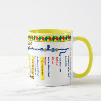 Ashton Canal Route Map Mug