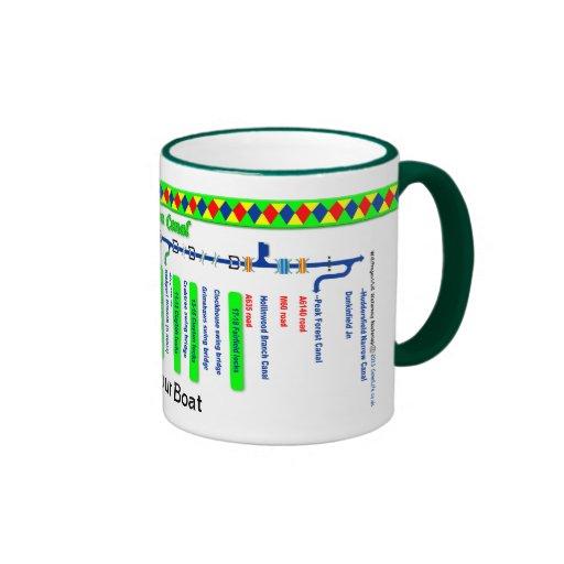 Ashton Canal Route Map Ringer Mug
