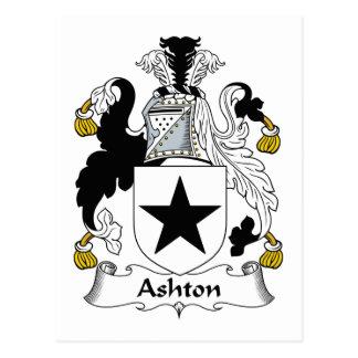 Ashton Family Crest Postcard