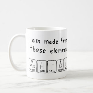 Ashton periodic table name mug