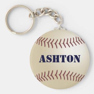 Ashton Personalized Baseball Keychain by 369MyName