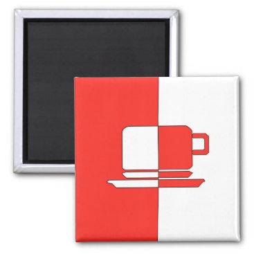 cloudsendgallery Ashton Red and White Cup Magnet