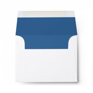 Ashton Thank You Bar Mitzvah Wedding Blue Lined envelope