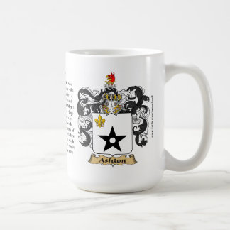 Ashton, the Origin, the Meaning and the Crest Coffee Mug