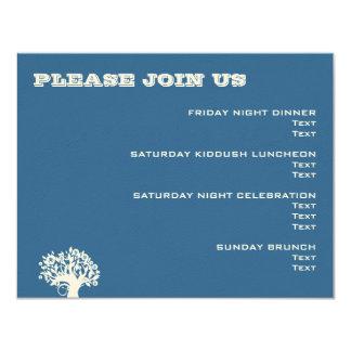 Ashton Tree Bar Mitzvah Wedding Event Card