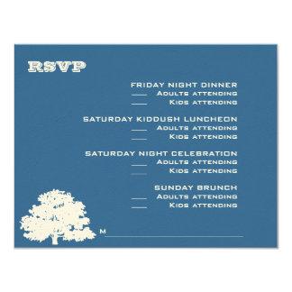 Ashton Tree Bar Mitzvah Wedding RSVP Card