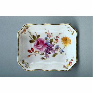 Ashtray with colorful flower designs acrylic cut out