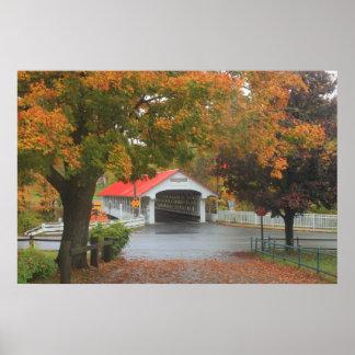 Ashuelot Covered Bridge Monadnock Region Autumn Posters