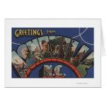 Ashville, North Carolina - Large Letter Scenes Cards