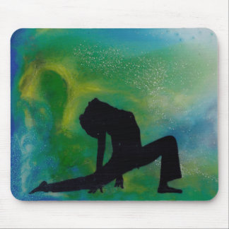 Ashwa Sancha Yoga Girl - Mousepad