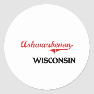 Ashwaubenon Wisconsin City Classic Sticker