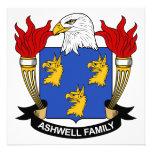 Ashwell Family Crest Custom Invitations