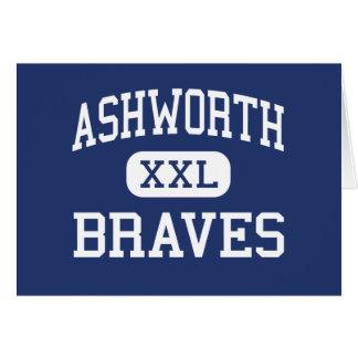 Ashworth Braves Calhoun medio Georgia Tarjetas