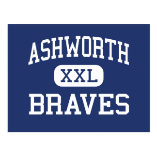 Ashworth Braves Calhoun medio Georgia Tarjeta Postal
