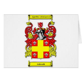 Ashworth Coat of Arms Card