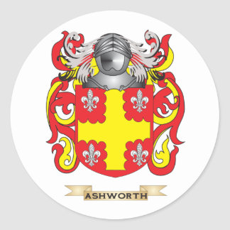 Ashworth Coat of Arms (Family Crest) Classic Round Sticker