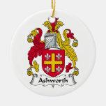Ashworth Family Crest Christmas Tree Ornament