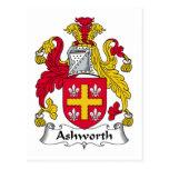Ashworth Family Crest Postcard