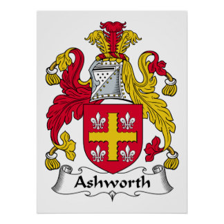 Ashworth Family Crest Posters