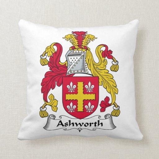 Ashworth Family Crest Throw Pillows