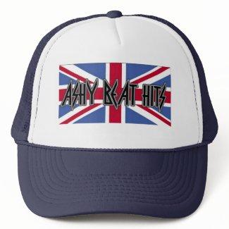 Ashy Beat Hits Dark Blue BRITTISH TRUCKER HAT hat