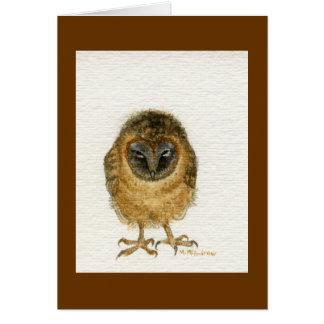 """""""Ashy Faced Barn Owl"""" Card"""