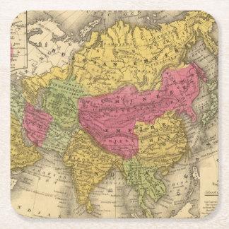 Asia 14 posavasos de cartón cuadrado