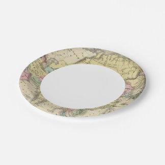 Asia 15 platos de papel