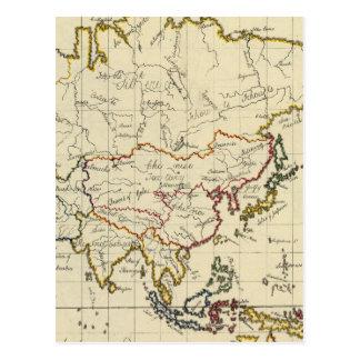 Asia 15 tarjeta postal