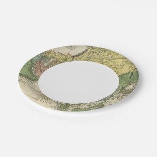Asia 17 platos de papel
