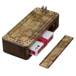 Asia 19 walnut cribbage board