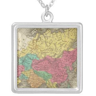 Asia 21 square pendant necklace