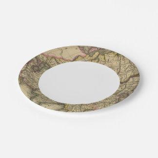 Asia 34 platos de papel