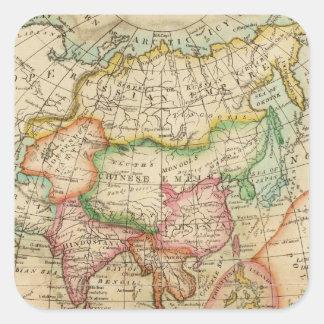 Asia 35 calcomanías cuadradases