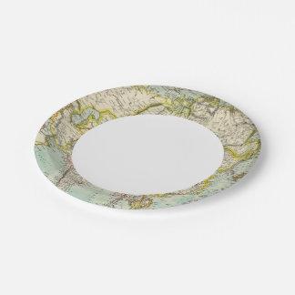 Asia 37 plato de papel de 7 pulgadas