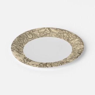 Asia 40 platos de papel