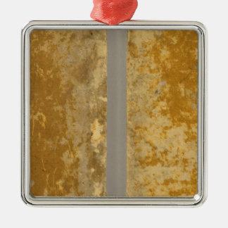 Asia 46 square metal christmas ornament