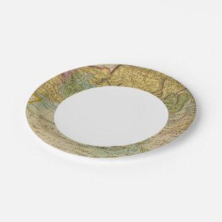 Asia 4 platos de papel