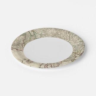 Asia 5 2 platos de papel