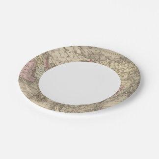 Asia 5 platos de papel