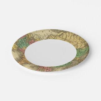Asia 6 platos de papel
