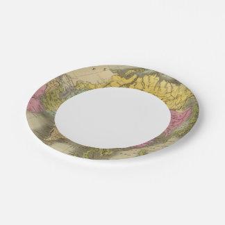 Asia 8 platos de papel