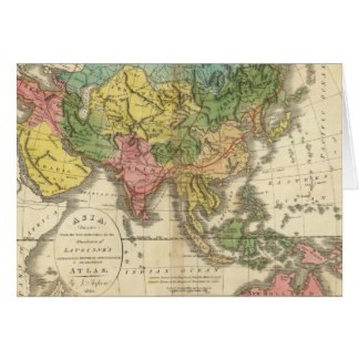 Asia and Empire of Genghis Kahn Greeting Card