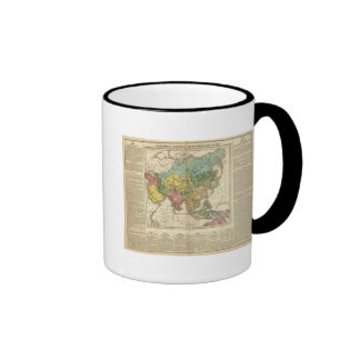 Asia and Empire of Genghis Kahn Ringer Coffee Mug