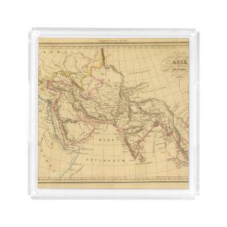 Asia antigua bandeja cuadrada