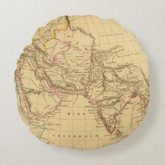 Asia antigua cojín redondo