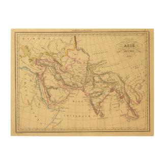 Asia antigua impresión en madera