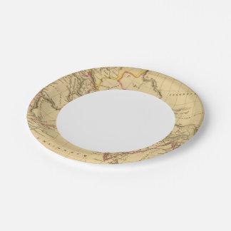 Asia antigua platos de papel